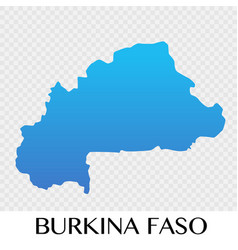 Burkina faso map in africa continent design vector