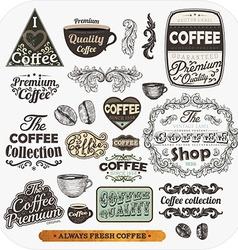 Coffee Label Set vector image