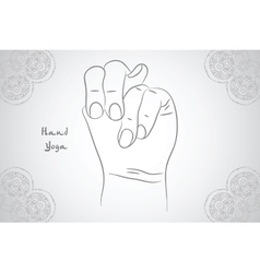 Element yoga Apan Vayu mudra hands with mehendi vector image vector image