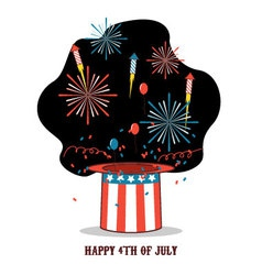 Isolated cartoon celebration of america independen vector image vector image