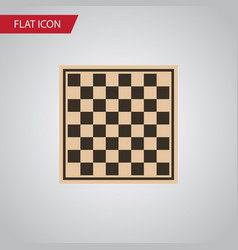 isolated checkerboard flat icon chess table vector image vector image