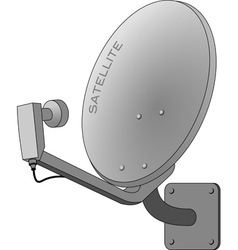 Satellite dish isolated on white vector