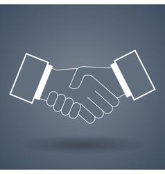 Shake hand line icon vector image vector image