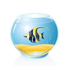 Aquarium with Tropical Fish vector image vector image