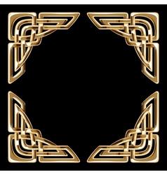 golden celtic corners vector image
