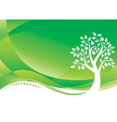Green tree vector