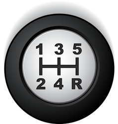 manual gear shifter vector image
