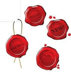 sale wax stamp set vector image vector image