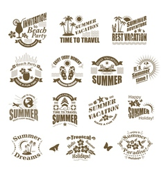 Set of SUMMER design elements and frames vector image vector image