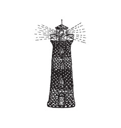 tattoo lighthouse vector image
