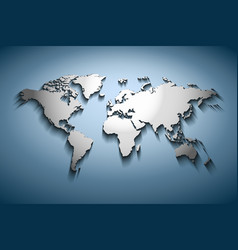 World map embossed vector image vector image