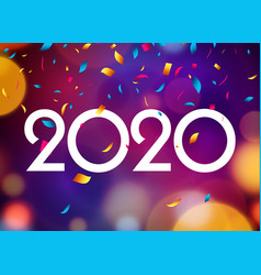 2020 new year happy card background party vector