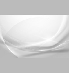 abstract gray wavy with blurred light curved vector image