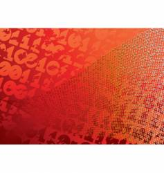 abstract orange background digits grunge vector image vector image