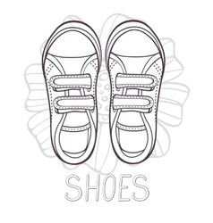 An of fashionable girl trainers vector