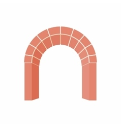 Arch of red brick icon cartoon style vector image