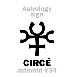 Astrology asteroid circ vector