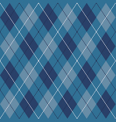 Blue black and white seamless argyle pattern vector
