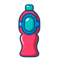 Bottle juice icon cartoon style vector