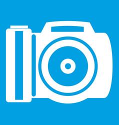 camera icon white vector image