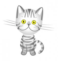 Cartoon tabby cat vector