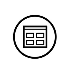 Catalogue line icon in a circle and a white vector
