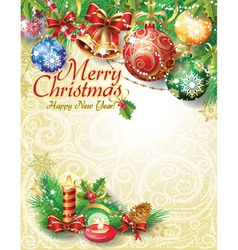 Christmas template design vector