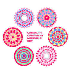 circular ornament mandala set clip-art vector image