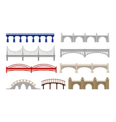 city bridges of different design on white vector image