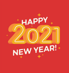 colorful new 2021 year flat design banner poster vector image