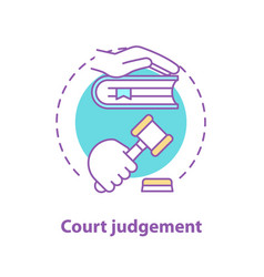 Court judgement concept icon vector
