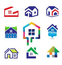 decoration building house construction vector image