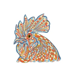 ethnic rooster vector image