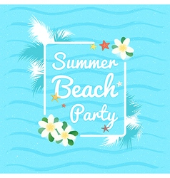 Event summer beach party azure sky ocean vector