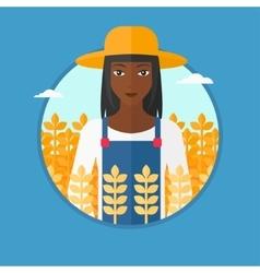 Farmer in wheat field vector