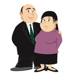 fat couple vector image