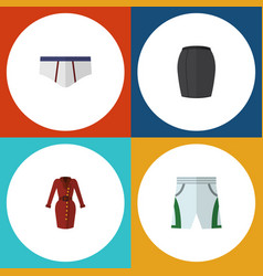 Flat icon clothes set of underclothes stylish vector