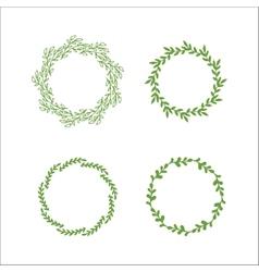 Floral wreath decoration vector