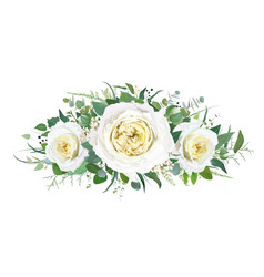floral yellow roses wedding bouquet design vector image