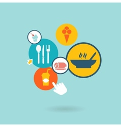 food composition of the icons vector image