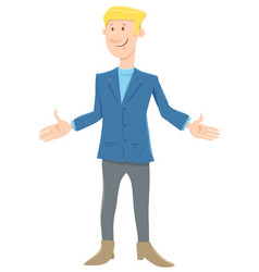 funny young businessman cartoon character vector image