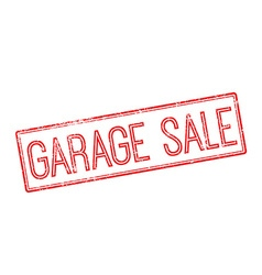 Garage Sale red rubber stamp on white vector image