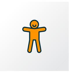 ginger cookie icon colored line symbol premium vector image