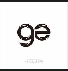 Gz initial letter split lowercase modern monogram vector