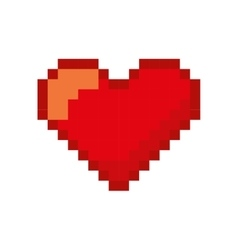 heart love pixelated icon vector image