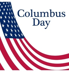Holiday in the US Columbus Day Poster vector