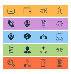 Hr icons set collection of hierarchy reverse vector