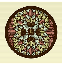 Human leaves yoga mandala vector