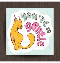 I love you card greetings with cute animals vector