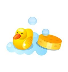 Icon duck rubber vector